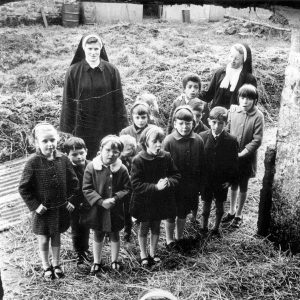Christmas at the Orphanage, 1970. Connie Roberts, far left.