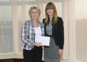 Connie Roberts receiving the Listowel Writers' Award