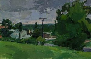 Christopher Dolan, oil on paper
