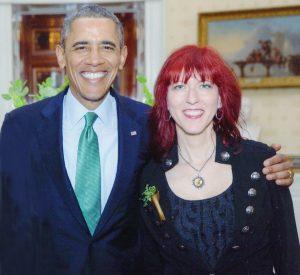President Barack Obama and Deni Bonet