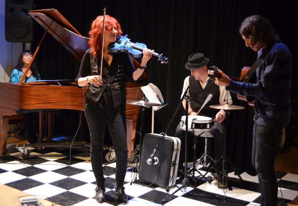 Deni Bonet with her band.